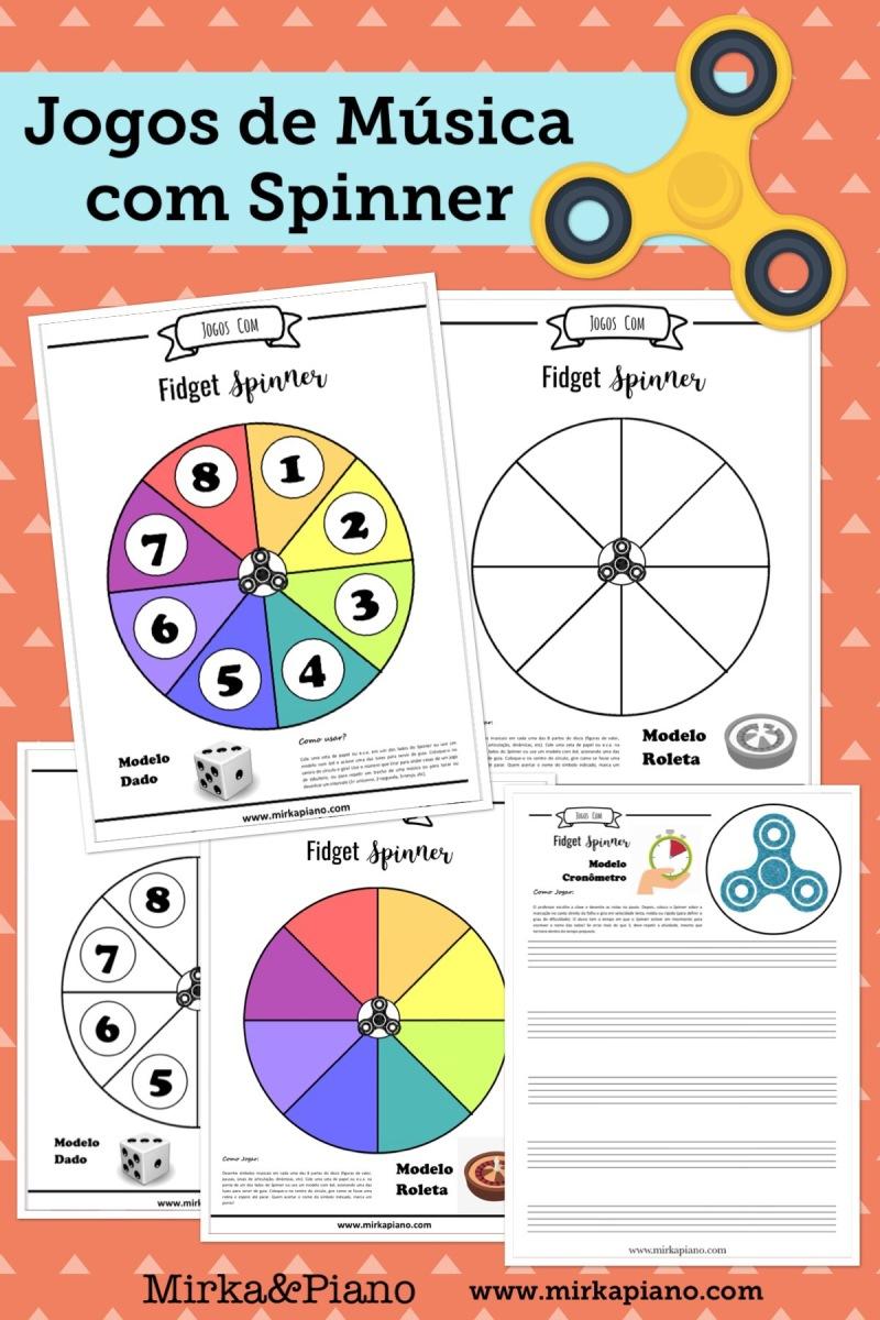 Jogos de Spinner: PDFs prontos para IMPRIMIR!